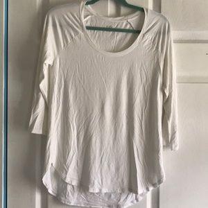White 3/4 shirt